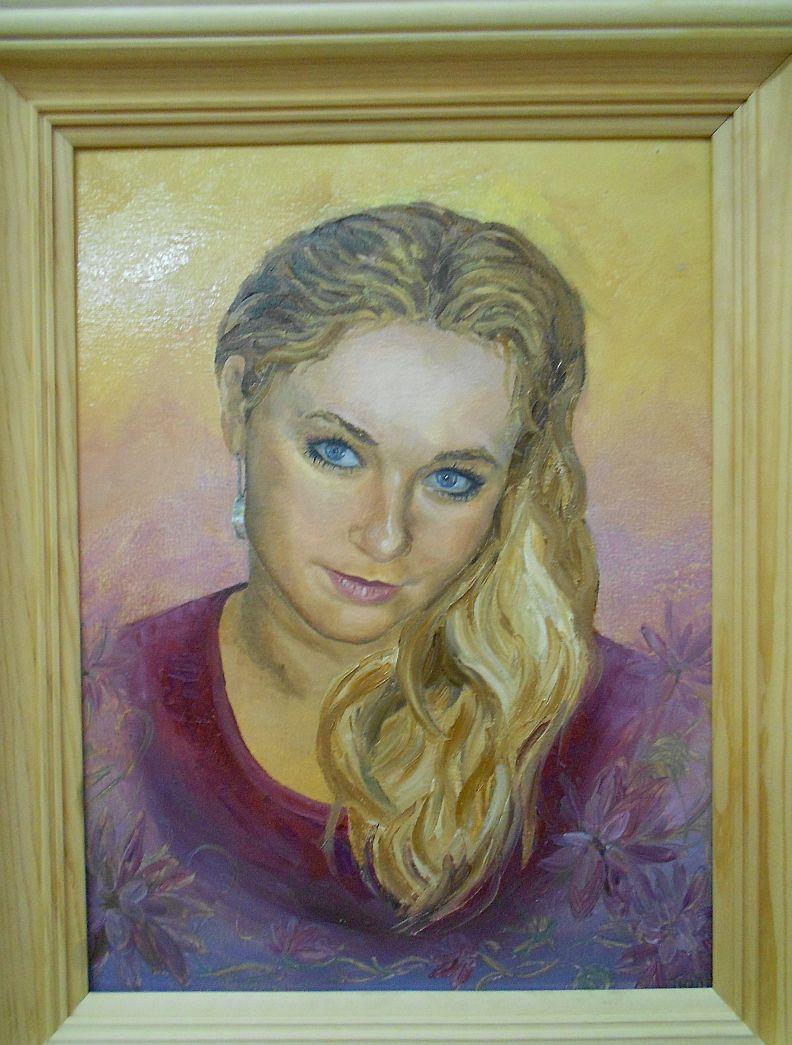 1. Портрет с фото. «Подруга» (холст, масло)