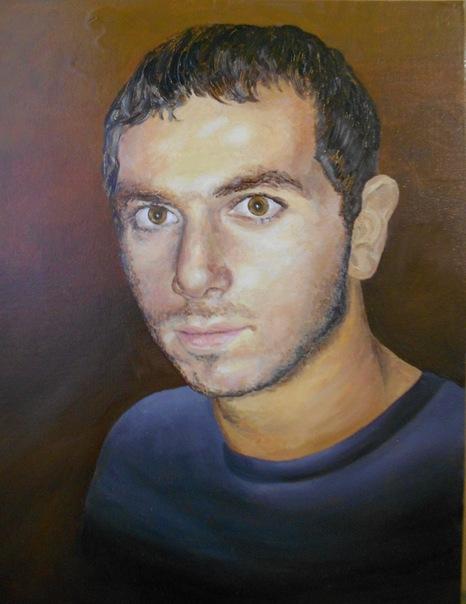 5. Портрет с фото. «Друг» (холст, масло)